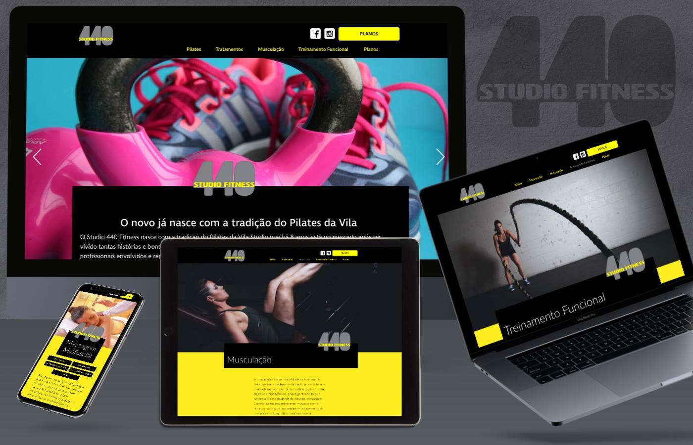 Site responsivo 440 studio Fitness