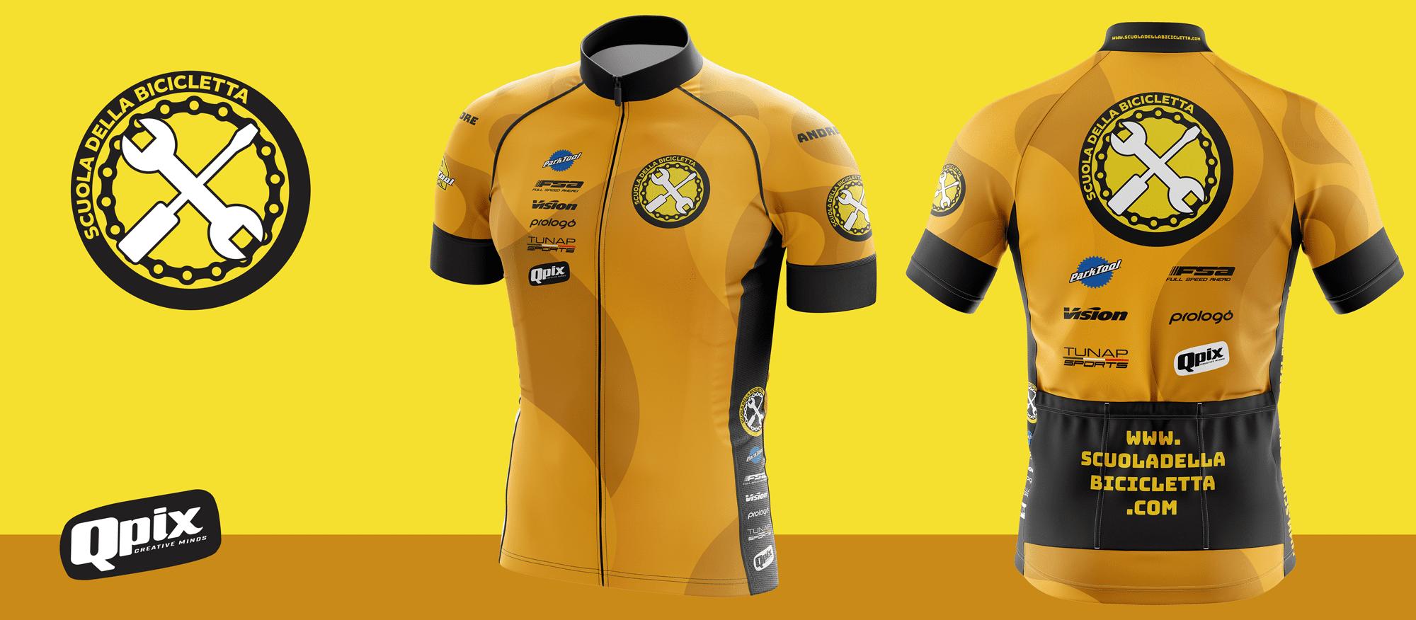 Criação de logotipo e jersey para Scuola Della Bicicletta - Milão Itália
