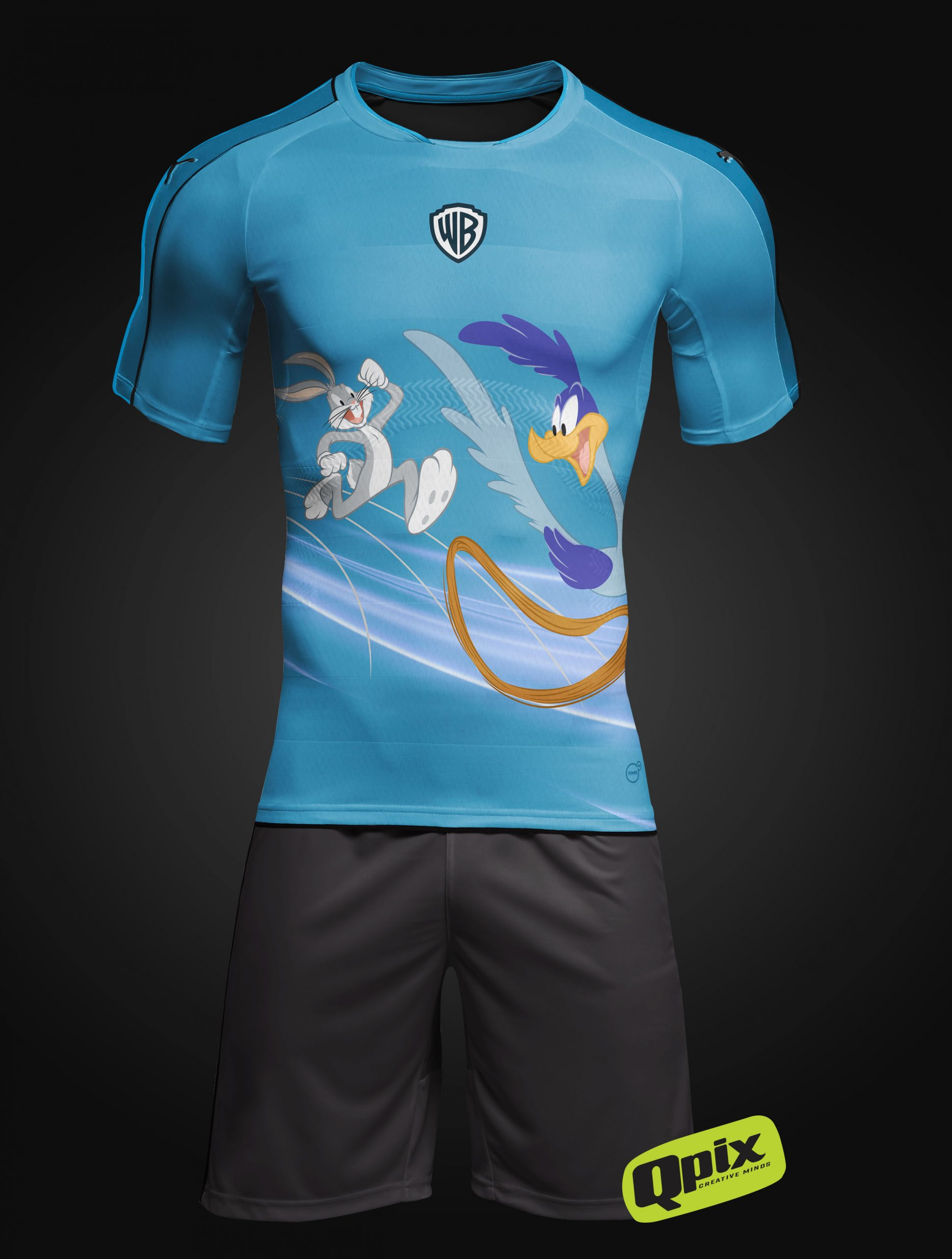 Camiseta de corrida para a equipe WB Runners da Warner Bros.