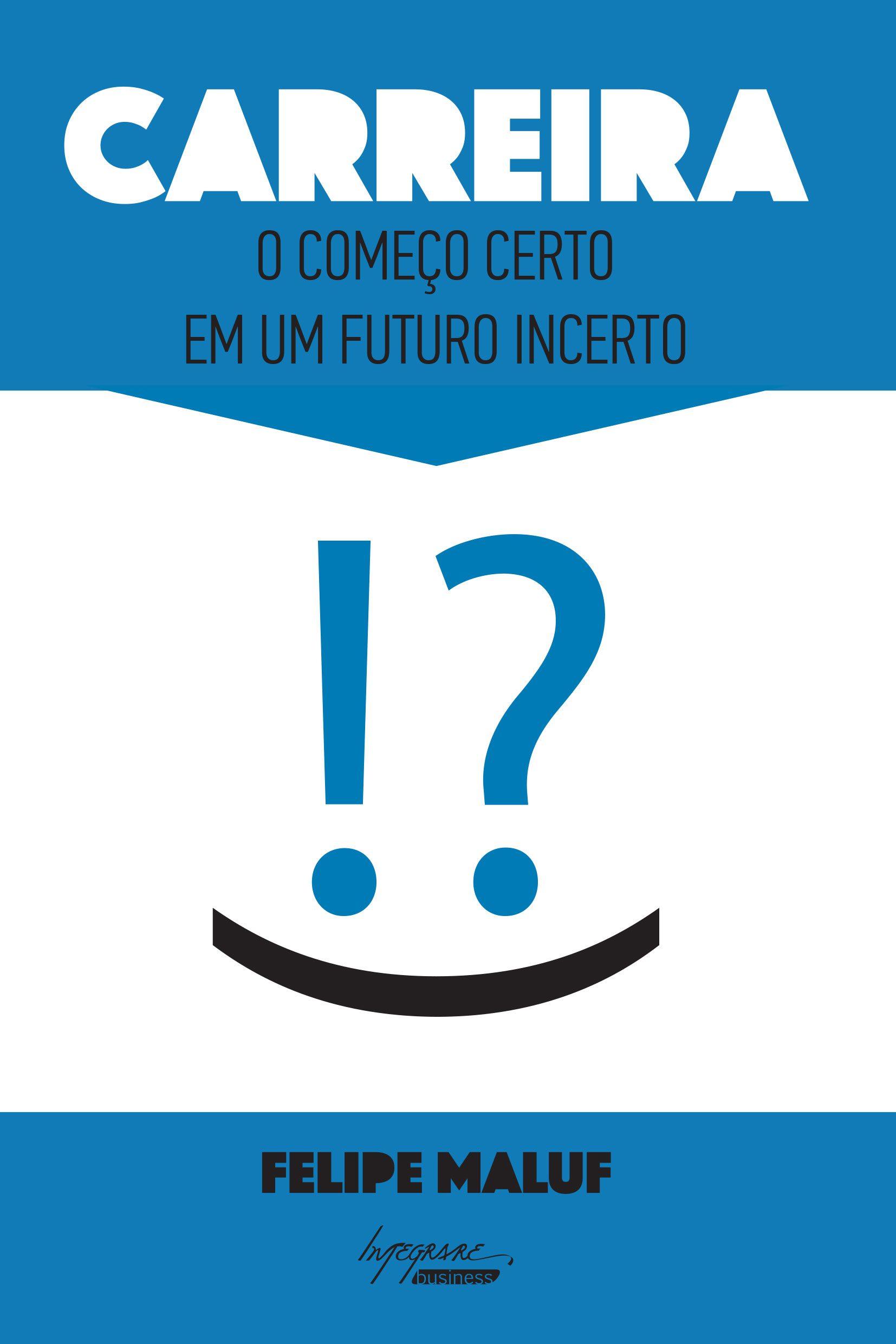 """Capa do livro """"Carreira"""" de Felipe Maluf"""