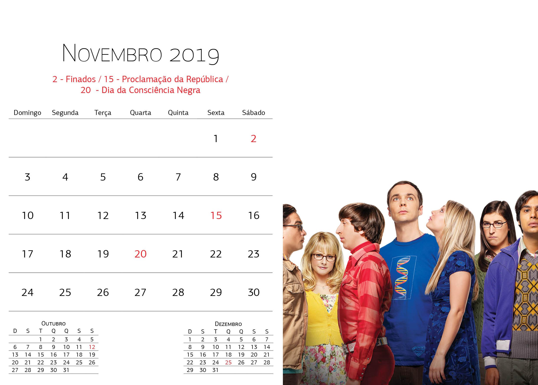 Calendário Warner Bros - Novembro
