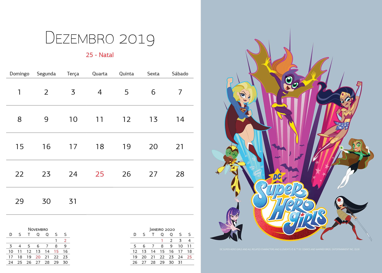 Calendário Warner Bros - Dezembro