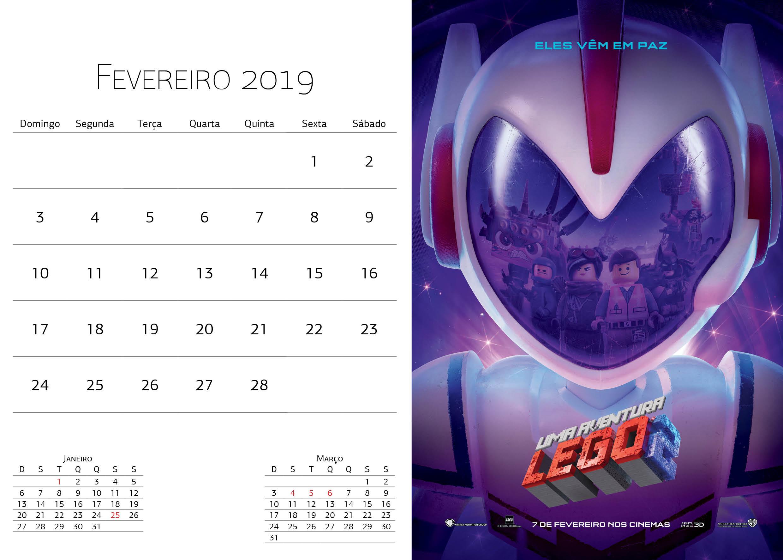 Calendário Warner Bros - Fevereiro