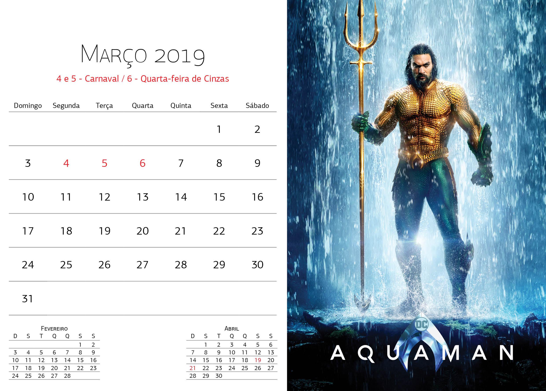 Calendário Warner Bros - Março