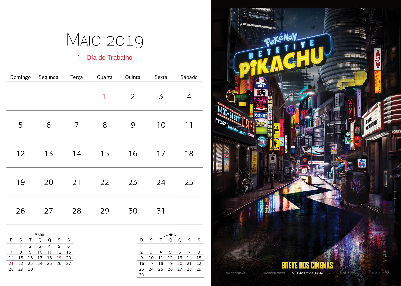 Calendário Warner Bros - Maio