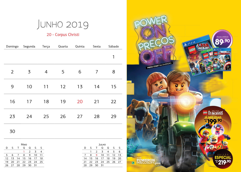 Calendário Warner Bros - Junho