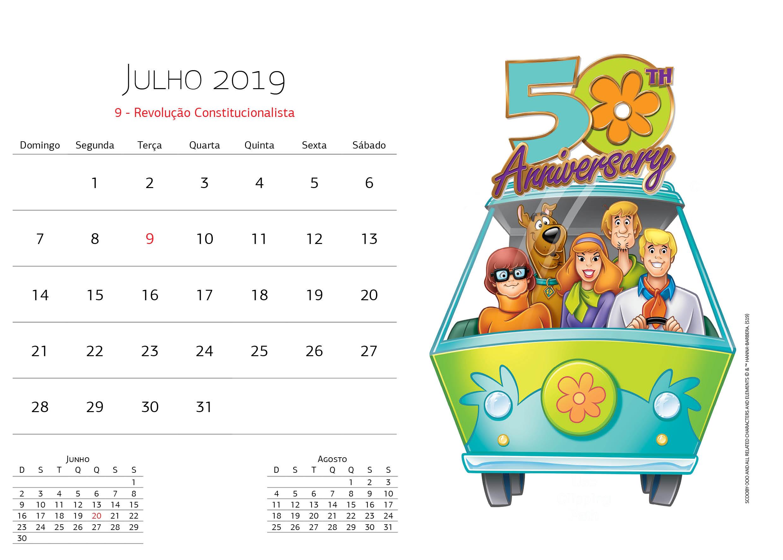 Calendário Warner Bros - Julho