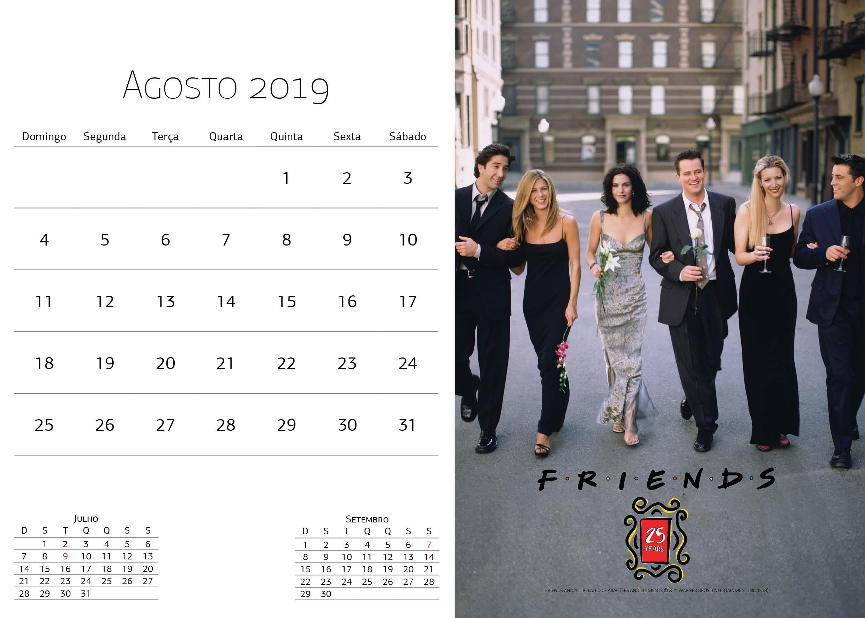 Calendário Warner Bros - Agosto