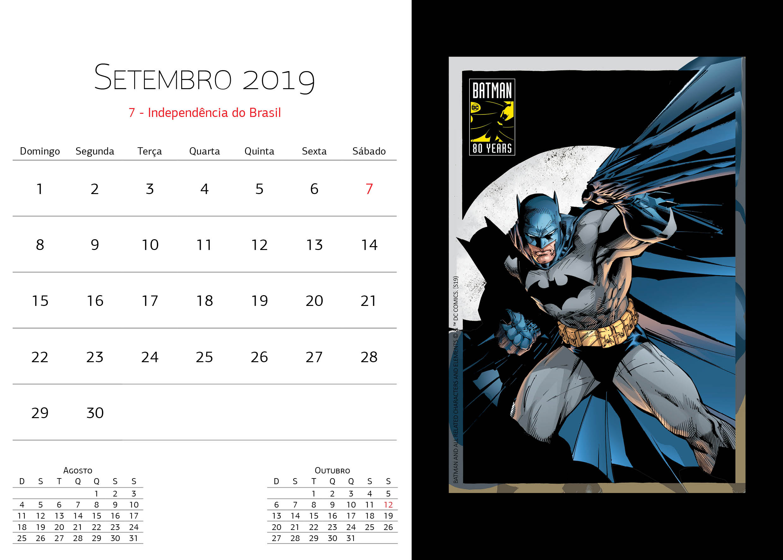Calendário Warner Bros - Setembro