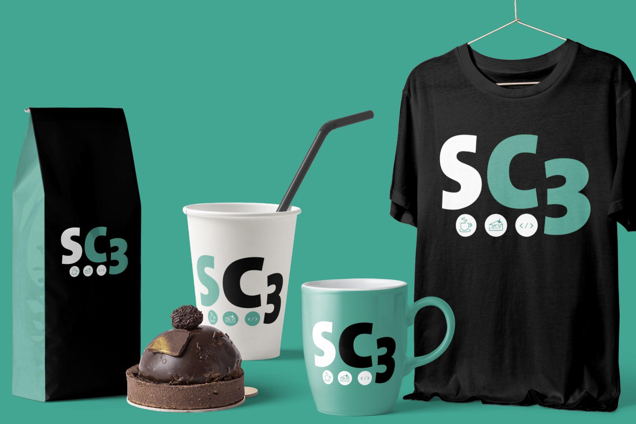 Peças o evento interno da Sharecare chamado SC3, onde a equipe de coders troca experiências tomando um café e comendo um bolo.