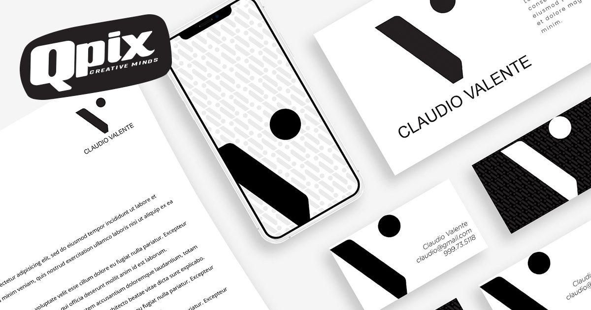 logo Claudio Valente qpix creative minds