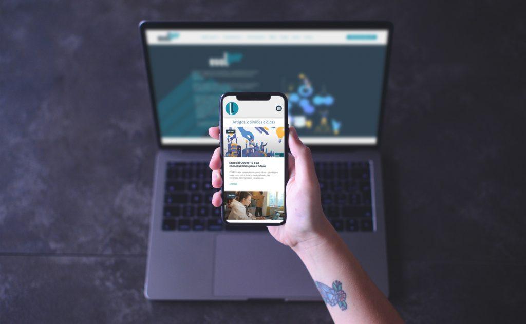 Site responsivo para Evolluir. Qpix Creative Minds